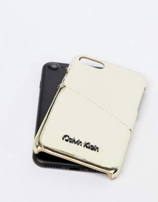 Calvin Klein Metallic Iphone Case 6/6s/7/8 with Card Holder