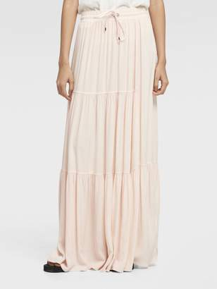 DKNY Drawstring-Waist Maxi Skirt