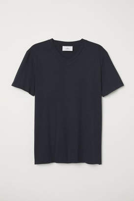H&M Cotton and Silk T-shirt - Black