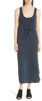 Vince Sleeveless Tie Front Maxi Dress