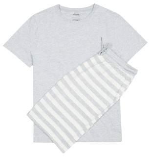 Burton Mens Grey Marl Jersey Shorts Set