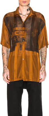 Raf Simons Short Sleeve Net Jersey Shirt