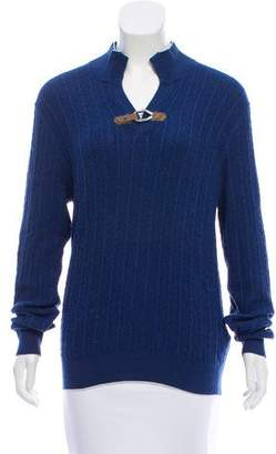 Massimo Dutti Cable Knit Long Sleeve Sweater