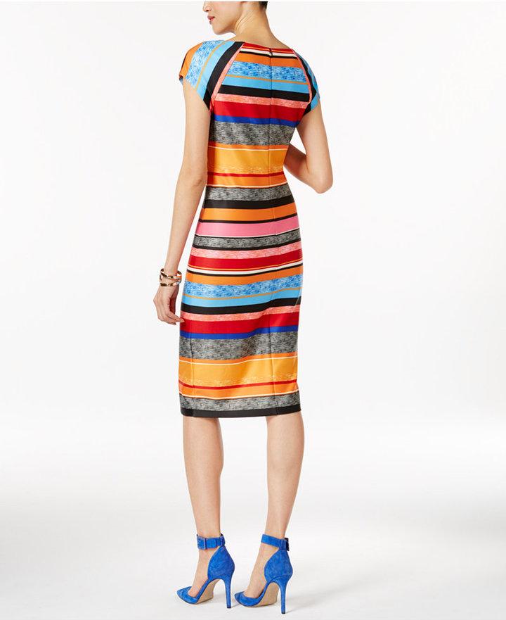 ECI Striped Sheath Dress 2