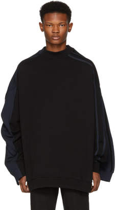 Y/Project Black and Navy Double Sweatshirt
