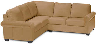 Asstd National Brand Leather Possibilities Roll-Arm 2-pc. Right-Arm Corner Sectional