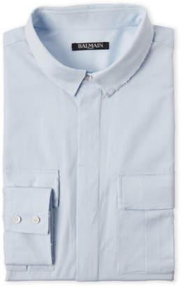 Balmain Distressed Pocket Dress Shirt