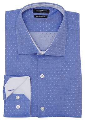 Tailorbyrd Trim Fit Textured Dot Dress Shirt