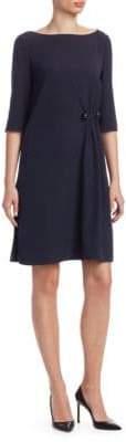 Emporio Armani Boatneck Cady Dress