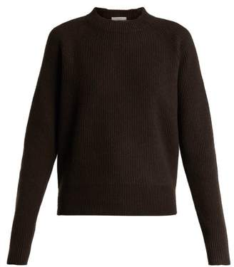 The Row Bowie Ribbed Knit Cashmere Sweater - Womens - Dark Brown
