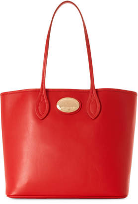 Roberto Cavalli Red Leather Shopping Tote