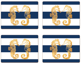 Nautical Seahorses Table Mats (Set of 4)
