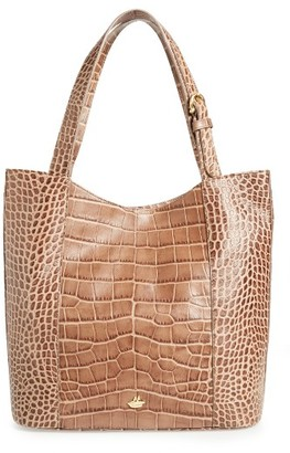 Brahmin Savannah - Brayden Embossed Leather Tote - Beige $325 thestylecure.com