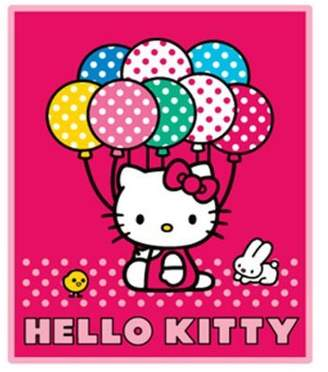 SANRIO Hello Kitty Blanket - Hello Kitty Throw (50 x 60 in) Baloon