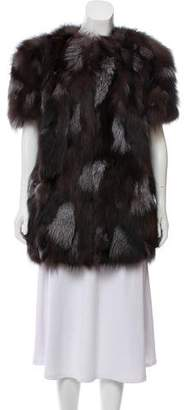 Scoop Silver Fox Fur Jacket