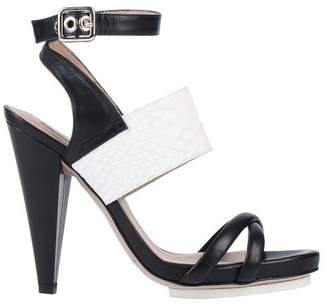aed339c63ca Black Two Strap Sandals - ShopStyle UK
