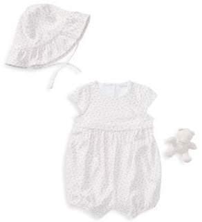 Ralph Lauren Baby's Bucket Hat, Dress& Stuffed Animal Set