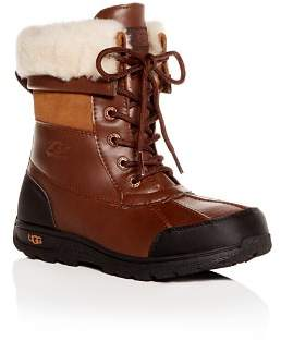 UGG Girls' Butte II Waterproof Leather Cold-Weather Boots - Little Kid, Big Kid