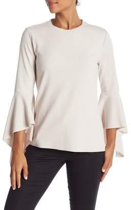 Catherine Malandrino Crew Neck Bell Sleeve Shirt
