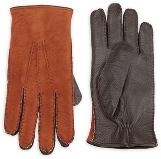Saks Fifth Avenue Shearling-Lined Deerskin Leather Gloves