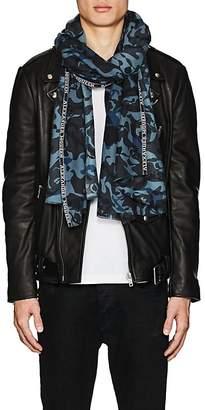 Alexander McQueen Men's Skull-Camouflage Cashmere-Silk Scarf