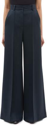 The Row 'Isla' pleated wide leg virgin wool pants