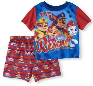 Paw Patrol Toddler Boy Short Sleeve Top & Shorts Pajamas, 2pcs Set