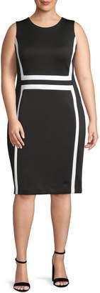 Calvin Klein Sleeveless Colourblock Sheath Dress