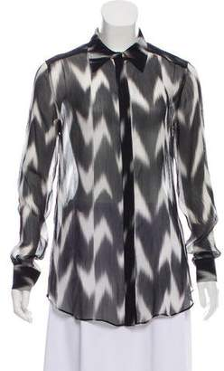 Rachel Zoe Silk Patterned Top