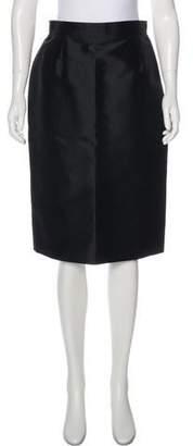 Christian Lacroix Silk Pencil Skirt