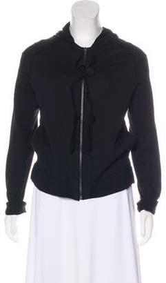 Miu Miu Hooded Zip-Up Sweater