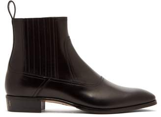 Gucci Plata Leather Chelsea Boots - Mens - Black