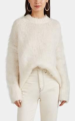 Helmut Lang Women's Brushed Mohair-Blend Oversized Sweater - White