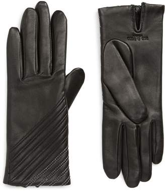 Rag & Bone Slant Lambskin Leather Gloves