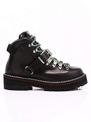 Versace Men's Lace-Up Buckle Leather Boots