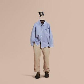 Burberry Striped Stretch Cotton Shirt $130 thestylecure.com