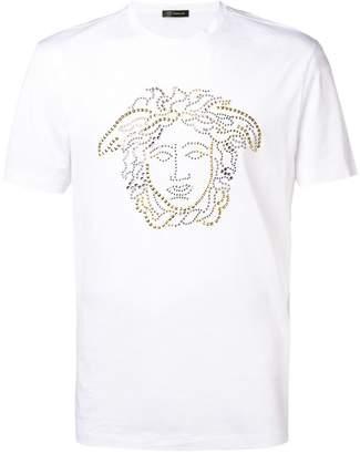 Versace Medusa stud-embellished T-shirt