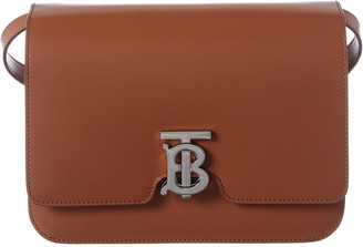 Burberry Medium Tb Leather Shoulder Bag