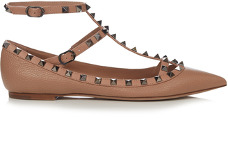 VALENTINO Rockstud leather flats $750 thestylecure.com