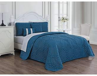Avondale Manor Nolie 9pc Quilt Set - King - Blue/Light Grey