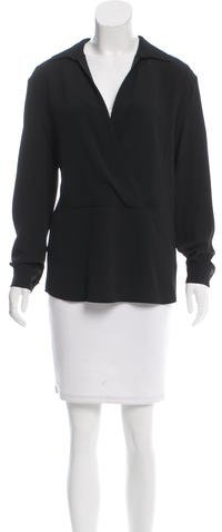 MICHAEL Michael Kors Michael Kors Collection Crepe Surplice Neck Blouse w/ Tags