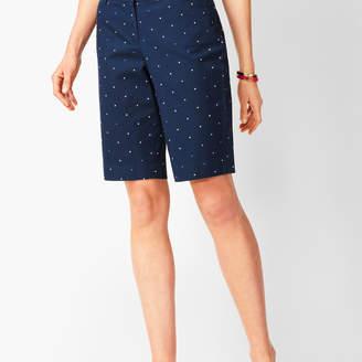 Talbots Perfect Shorts - Bermuda Length - Dot