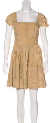 Miu Miu Pleat-Accented A-Line Dress