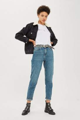 Topshop TALL Blue Green Mom Jeans