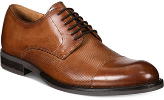 Alfani Men's Eric Mixed Texture Cap-Toe Oxfords, Only at Macy's $99.99 thestylecure.com