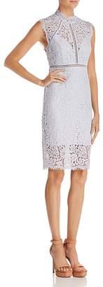 Bardot Sheer Detail Lace Dress