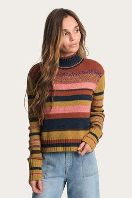 Frye Striped Mock Neck Sweater