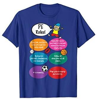 PE Rules - Reglas de PE English Spanish Teacher Tee Shirt