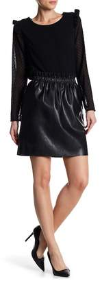 Dex Pull On Faux Leather Mini Skirt