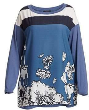 Marina Rinaldi Marina Rinaldi, Plus Size Venere Crepe de Chine Print Tunic Top